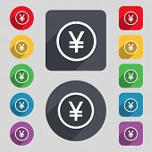 picture of yuan  - Japanese Yuan icon sign - JPG