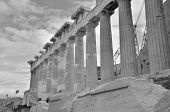 image of parthenon  - A view of the Parthenon in the city of Athens - JPG