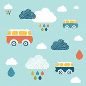 picture of wall cloud  - Kids Wall Paper Pattern - JPG