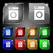 picture of washing-machine  - washing machine icon sign - JPG