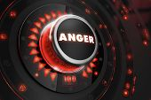 foto of anger  - Anger Controller on Black Control Console with Red Backlight - JPG