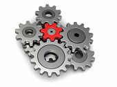 stock photo of snatch  - Cogwheels - JPG