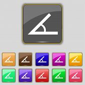 pic of degree  - Angle 45 degrees icon sign - JPG