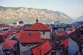 picture of nicholas  - Aerial view of old medieval town Kotor Montenegro in the morning - JPG