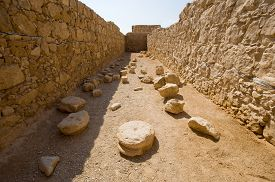 pic of masada  - One of the storerooms on the top of the rock Masada in Israel - JPG
