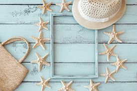 stock photo of starfish  - Summer beach decoration - JPG