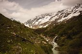 pic of snow capped mountains  - Snow - JPG