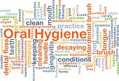 stock photo of oral  - Background concept wordcloud illustration of oral hygiene - JPG