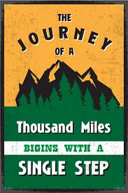 image of mile  - A Journey of a Thousand Miles Begins with a Single Step - JPG