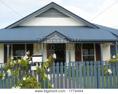 Picture Or Photo Of Traditional Style House With Picket