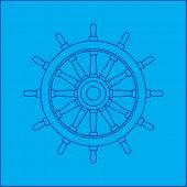 ship wheel blueprint