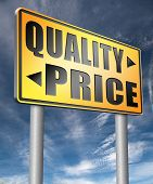 price quality balance for product best and top or premium qualities cheap   3D, illustration poster