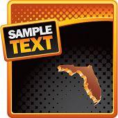 forma de estado de Florida no modelo de meio-tom laranja e preto