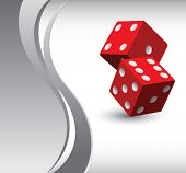 casino dice vertical silver wave backdrop