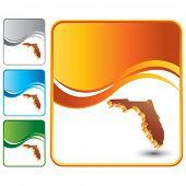 forma de estado de Florida em cenários de onda multicolorida