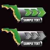 forma de estado de Florida nas setas verdes e cinza
