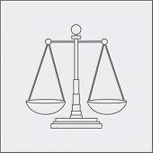 justice scales sketch