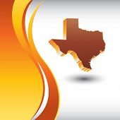 texas state on vertical orange backdrop