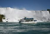Tourists At Niagara Falls poster
