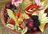 Fruit and berry dessert