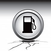 gas pump icon cracked ground