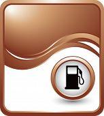 gas pump icon bronze wave backdrop