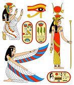 Vector collection - Egyptian goddess Isis