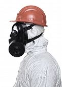 pic of s10  - man with gas mask on white background - JPG