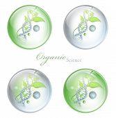 Bolas brilhante de ciência biológica