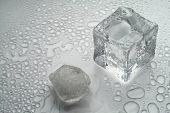 Melting Ice On White Background (2)