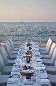 Served Table On The Sea Shore