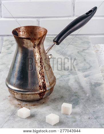 Turkish Cooper With Freshly Brewed