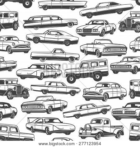 Cars And Vintage Auto Seamless