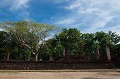Wat Singha Historical Park In Kamphaeng Phet, Thailand (a Part Of The Unesco World Heritage Site His poster