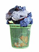 Pile Of Dirty Laundry In A Washing Basket, Laundry Basket With Colorful Towel, Basket With Clean Clo poster
