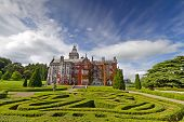 Adare manor in red ivy and gardens, Co. Limerick, Ireland