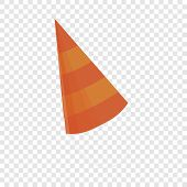 Birthday Conical Cap Icon. Cartoon Of Birthday Conical Cap Icon For Web Design poster