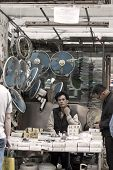 Chinese Hawker In Hong Kong