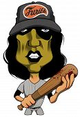 Character Illustration. Baseball Furies From The Movie, The Warriors. poster