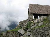 Ancient Guardhouse Of Machu Picchu
