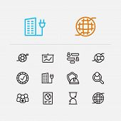 Commerce Icons Set. Time And Commerce Icons With Reliable Value, Business Data And Circle Infographi poster