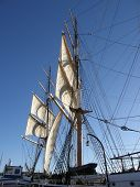 pic of yardarm  - Majestic in appearance tall ships always command attention - JPG