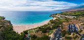 Aerial panorama of the Hapuna Beach State Park. West coast of the Big Island, Hawaii poster