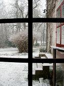 Snowfall At A Country House