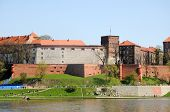 picture of polonia  - Wawel Castle architectural complex over Vistula River in Cracow Poland - JPG