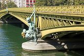 Mirabeau bridge, woman allegory 19 th century (Paris France)