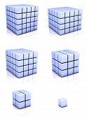 Cubos azuis