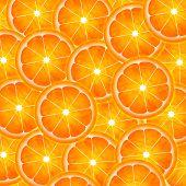 Slice of orange pattern painting illustration