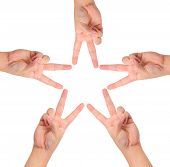 Hands Create Star Shape