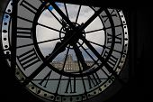 View Through Clock of Orsay Museum